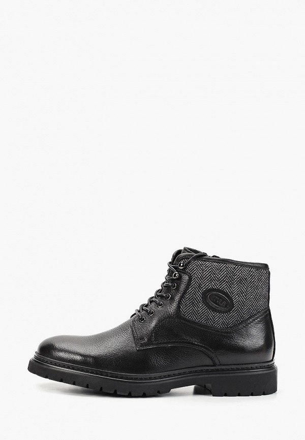 мужские высокие ботинки dino ricci, черные