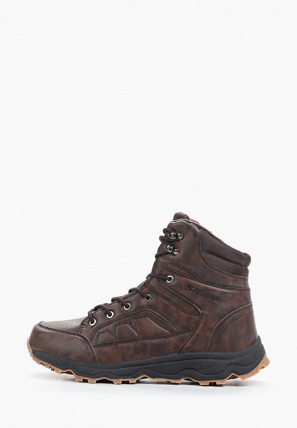Купить Мужские ботинки и полуботинки Sigma коричневого цвета