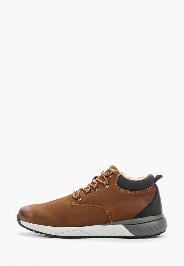 мужские низкие ботинки briggs, коричневые