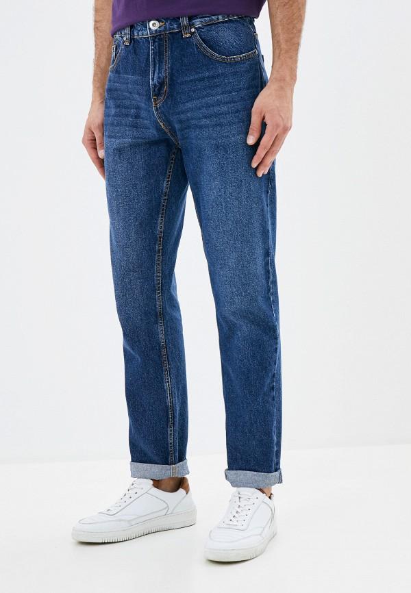 мужские прямые джинсы befree, синие