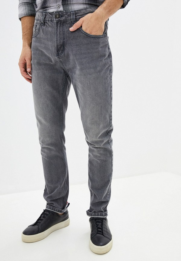 мужские зауженные джинсы befree, серые