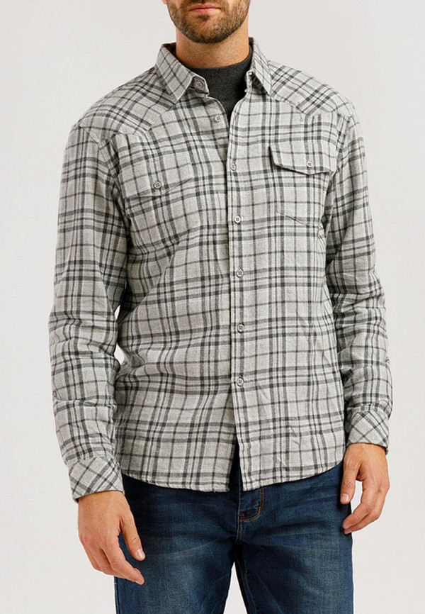 мужская рубашка с длинным рукавом finn flare, серая