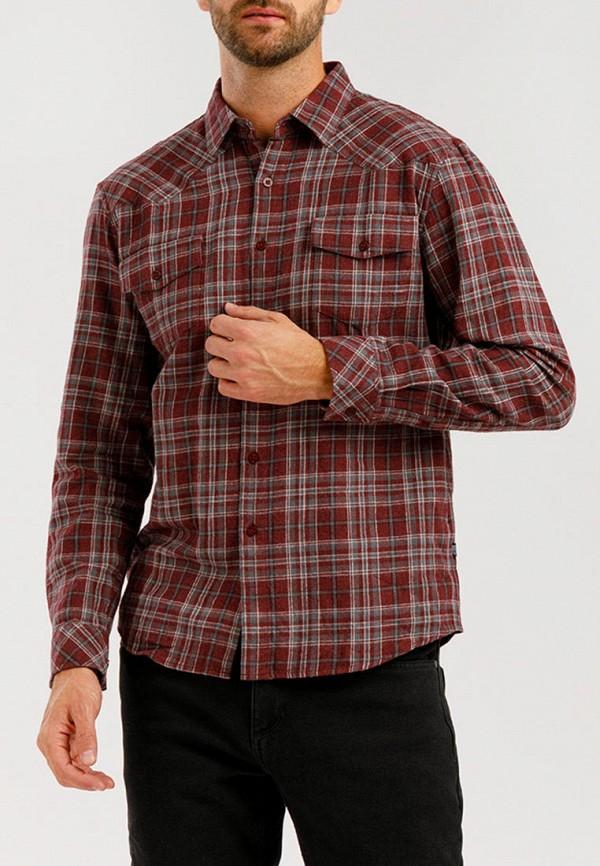 мужская рубашка с длинным рукавом finn flare, бордовая