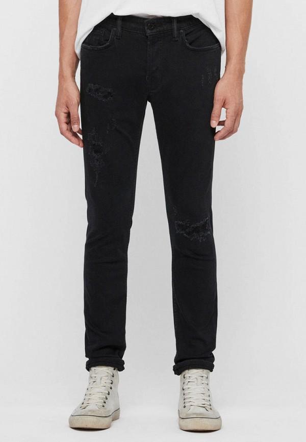 мужские прямые джинсы allsaints, черные