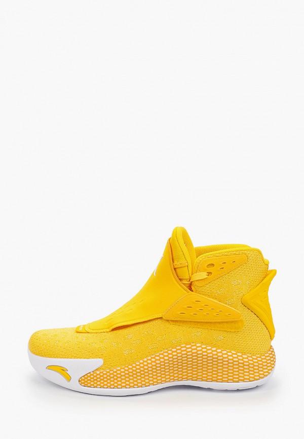 мужские высокие кроссовки anta, желтые