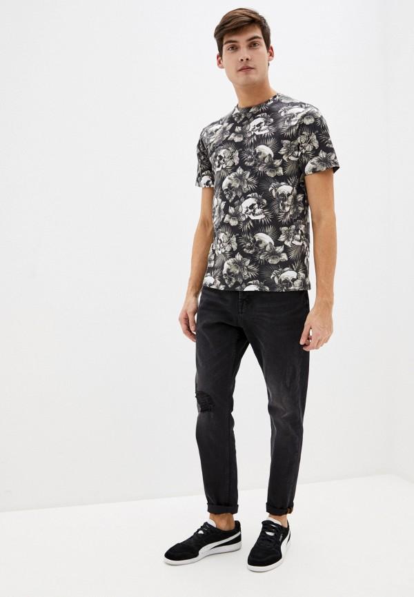 Фото 2 - Мужскую футболку Befree черного цвета