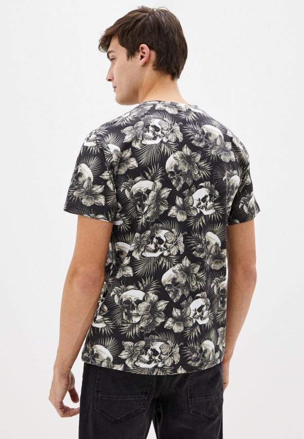 Фото 3 - Мужскую футболку Befree черного цвета