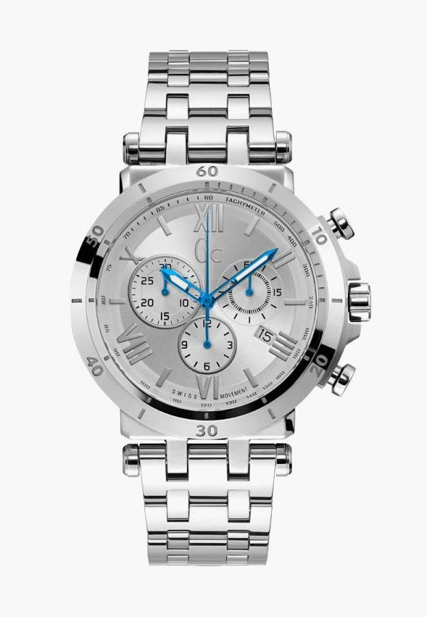 мужские часы gc, серебряные