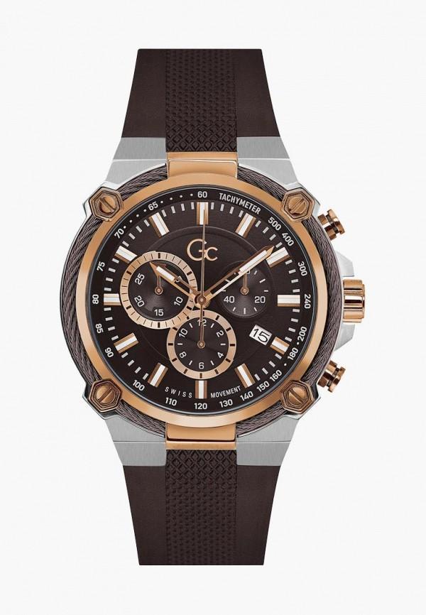 мужские часы gc, коричневые