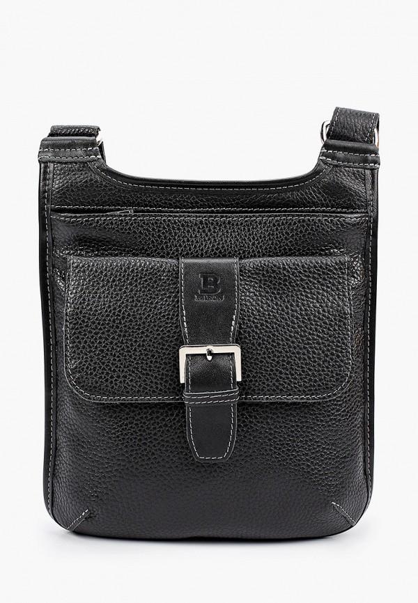 мужская сумка через плечо baron, черная