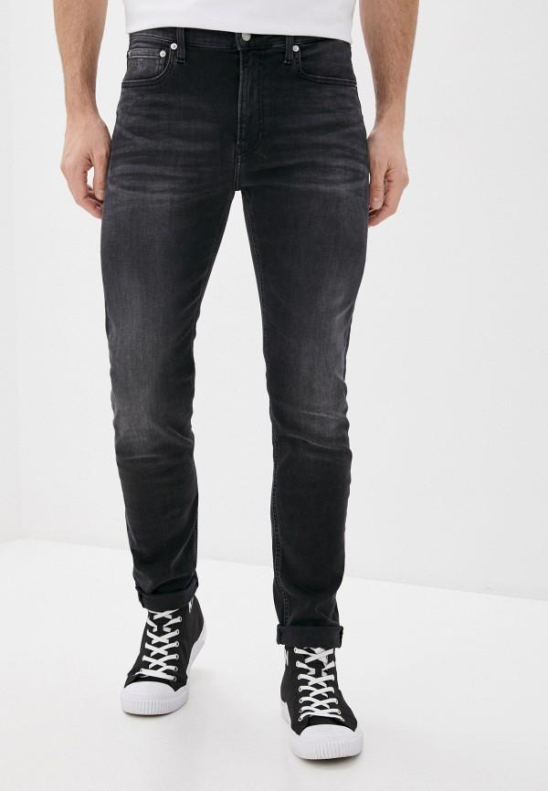 мужские прямые джинсы calvin klein, черные