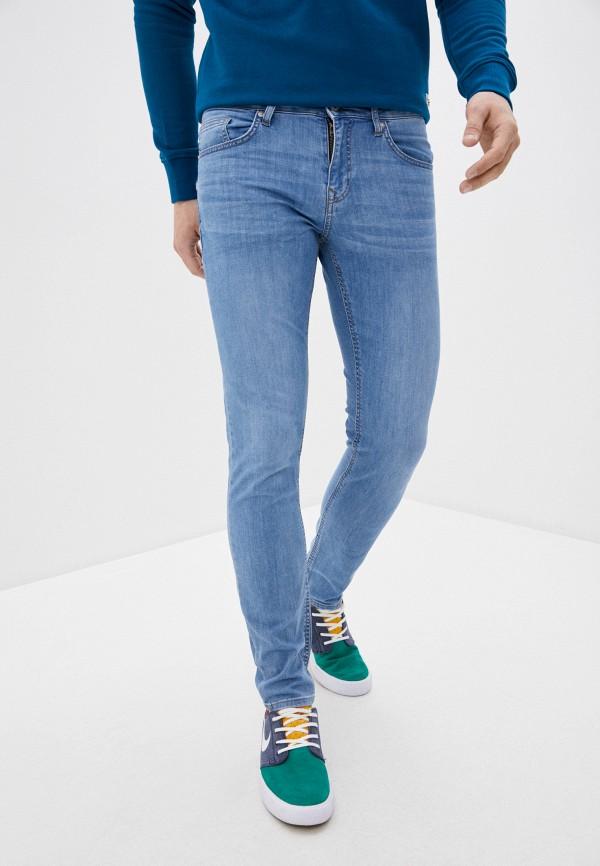 мужские зауженные джинсы colin's, голубые