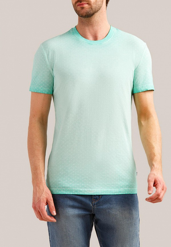 мужская футболка с коротким рукавом finn flare, бирюзовая