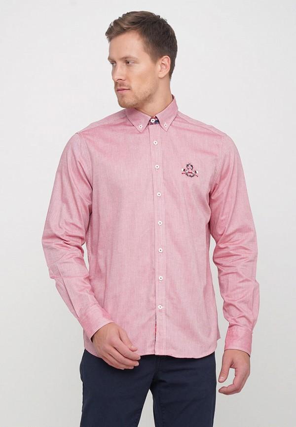 мужская рубашка с длинным рукавом campione, розовая