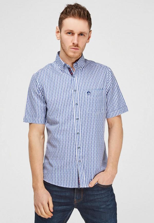 мужская рубашка с коротким рукавом campione, голубая
