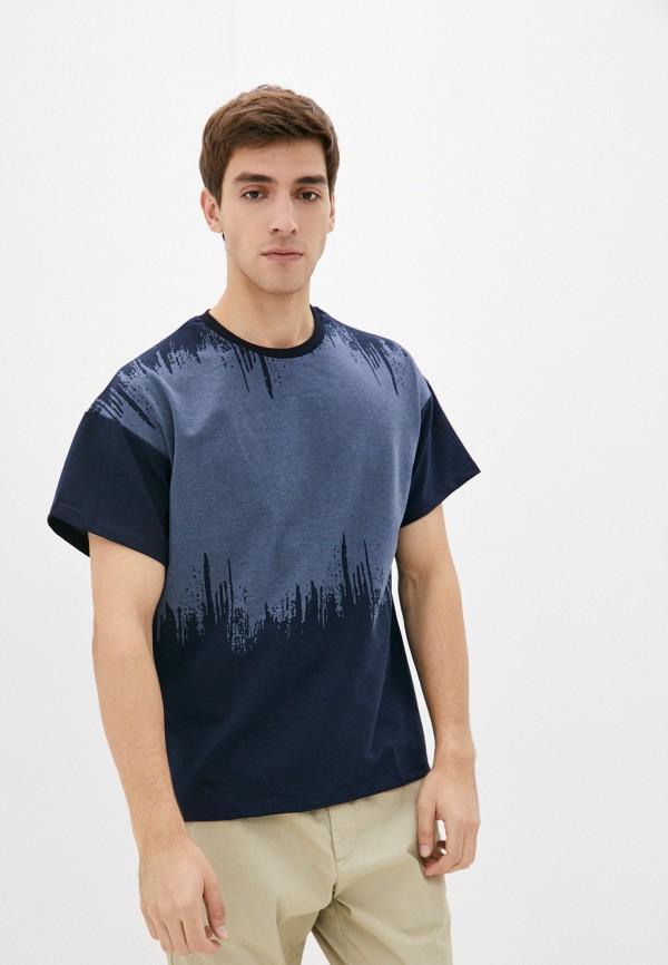 мужская футболка с коротким рукавом blacksi, синяя