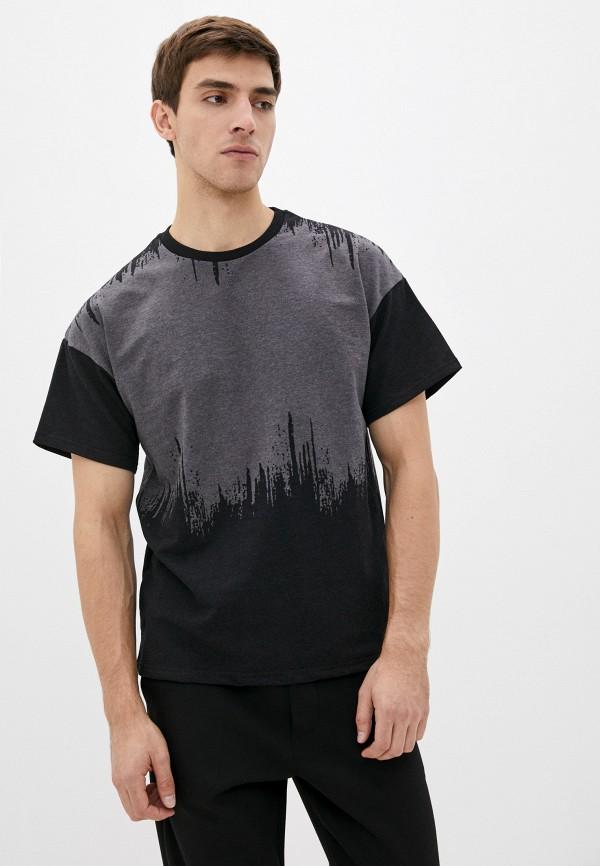 мужская футболка с коротким рукавом blacksi, серая
