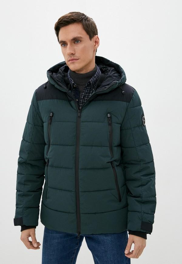 мужская утепленные куртка baon, зеленая