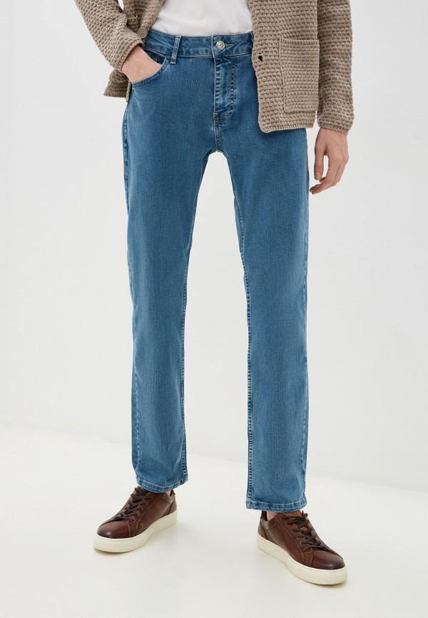 мужские прямые джинсы defacto, голубые