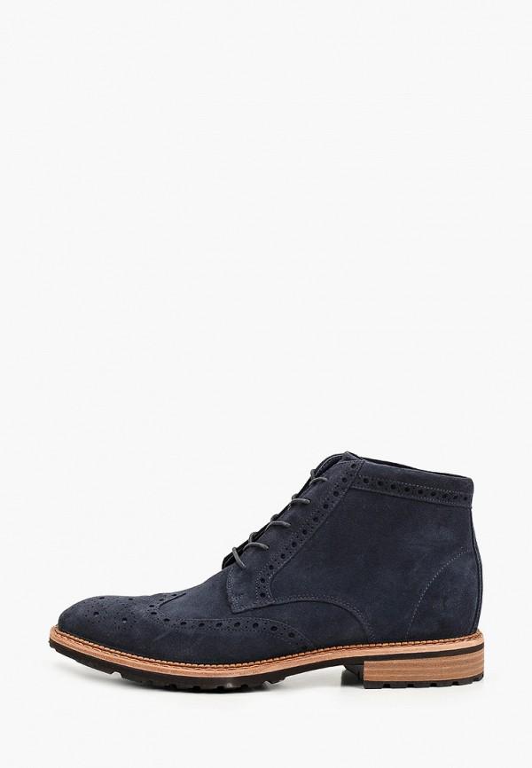 мужские высокие ботинки ecco, синие