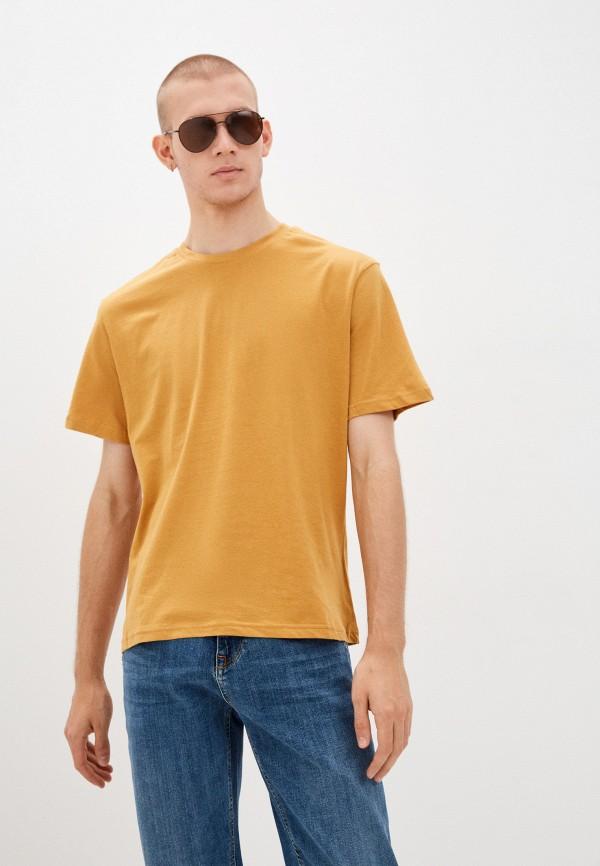 мужская футболка с коротким рукавом befree, коричневая