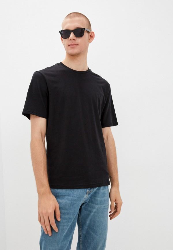 мужская футболка с коротким рукавом befree, черная