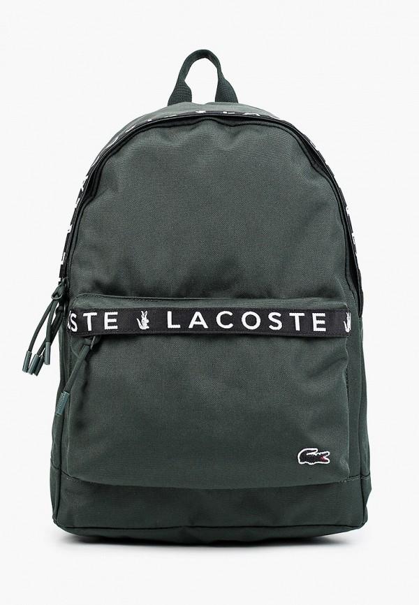 мужской рюкзак lacoste, зеленый
