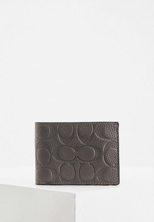 мужской кошелёк coach, серый