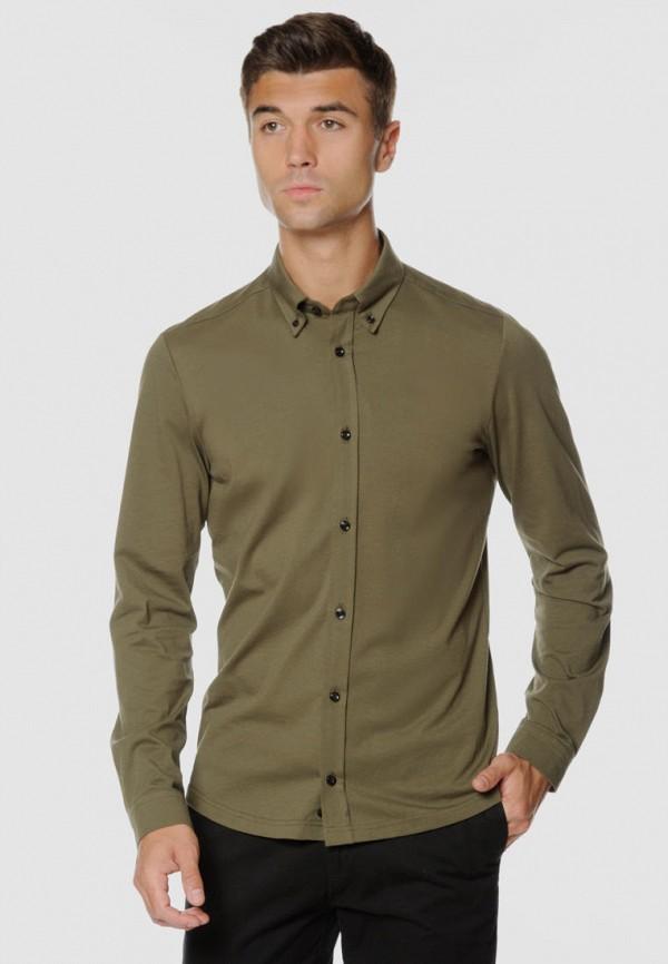 мужская рубашка с длинным рукавом arber, хаки