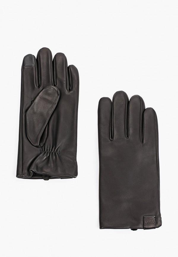 мужские кожаные перчатки ecco, черные