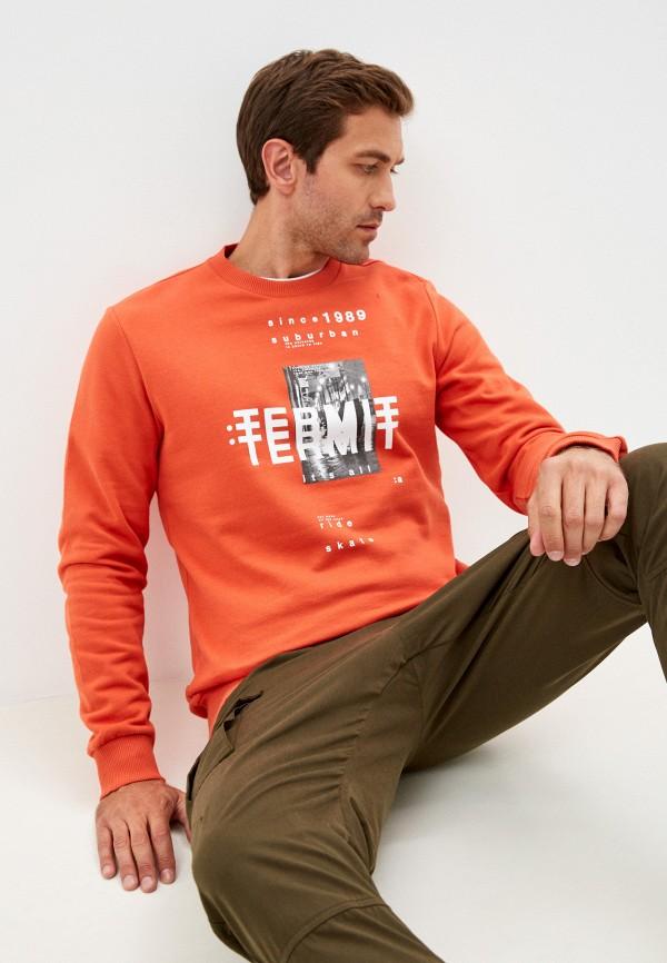 мужской спортивные свитшот termit, оранжевый
