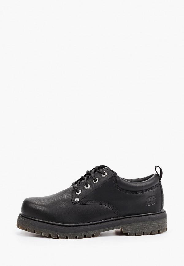 мужские низкие ботинки skechers, черные