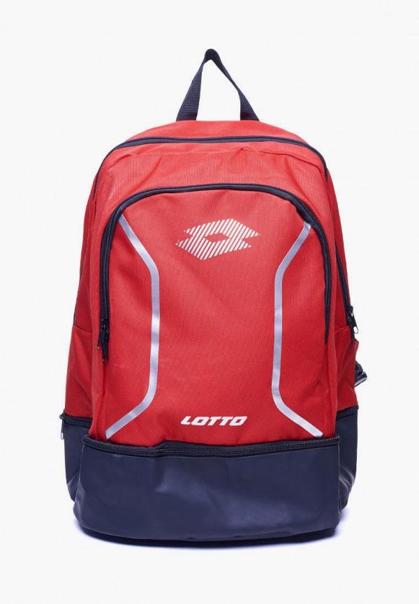мужской рюкзак lotto, красный