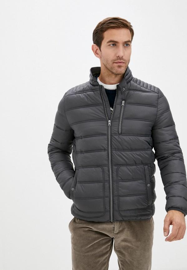 мужская утепленные куртка zolla, серая