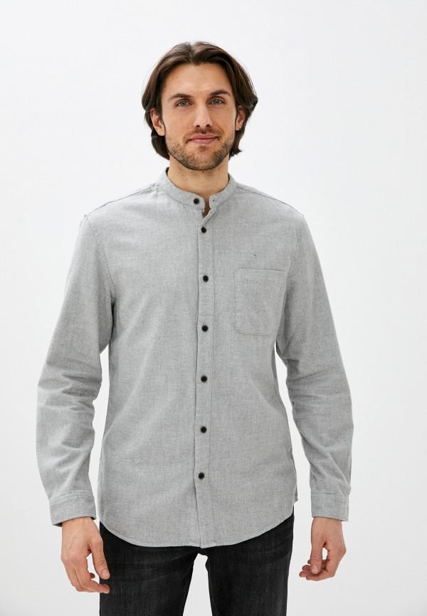 мужская рубашка с длинным рукавом zolla, серая