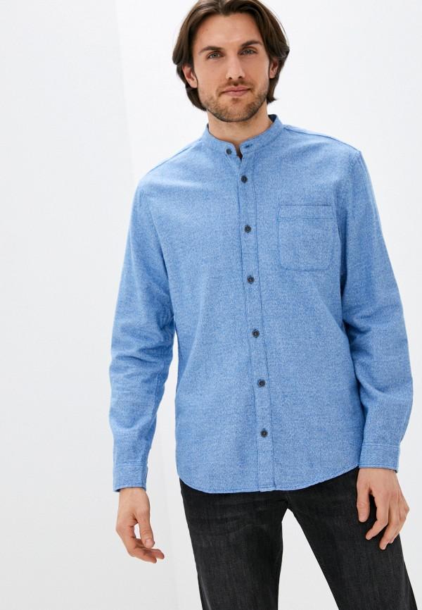 мужская рубашка с длинным рукавом zolla, голубая