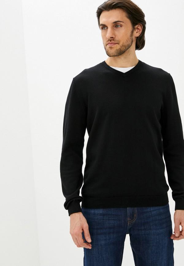 мужской пуловер zolla, черный