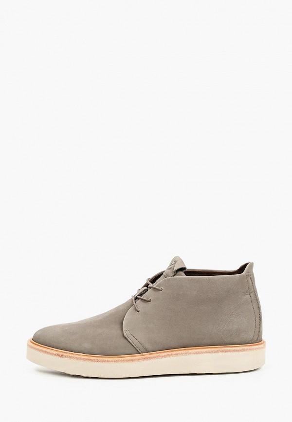 мужские ботинки-челси ecco, серые