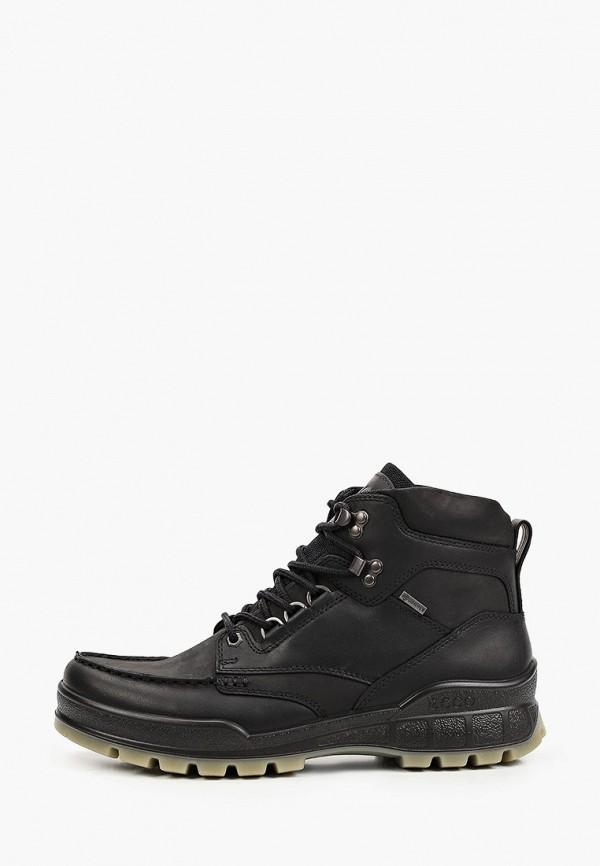 мужские высокие ботинки ecco, черные