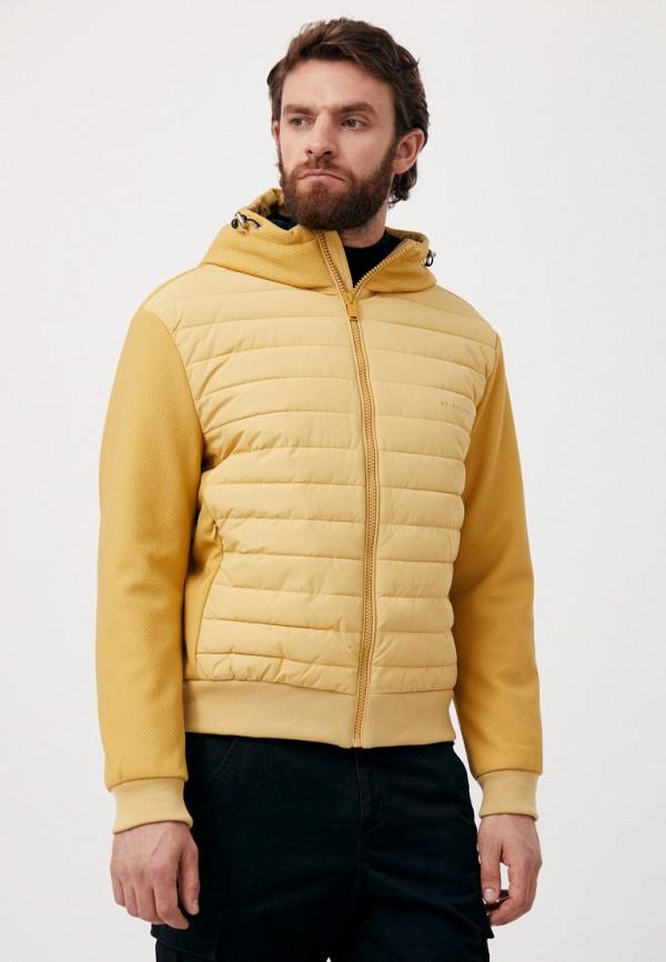 Куртка утепленная Finn Flare желтого цвета