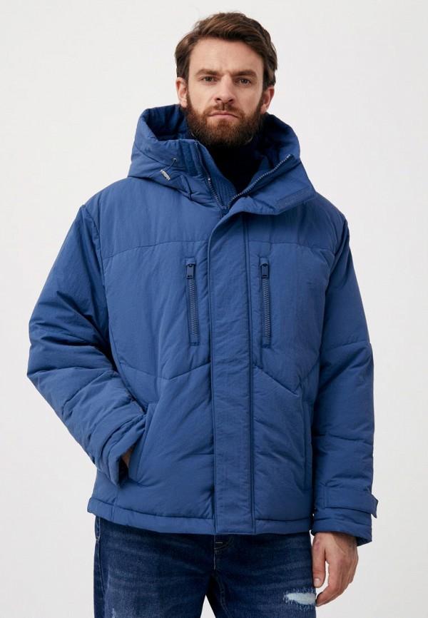 Куртка утепленная Finn Flare синего цвета