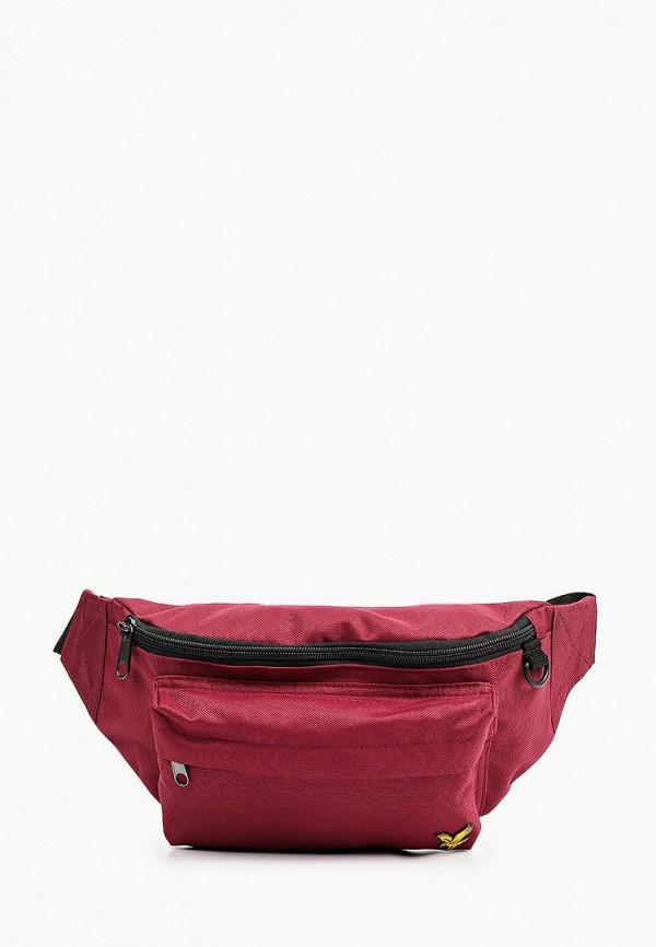 мужская поясные сумка lyle & scott, фиолетовая