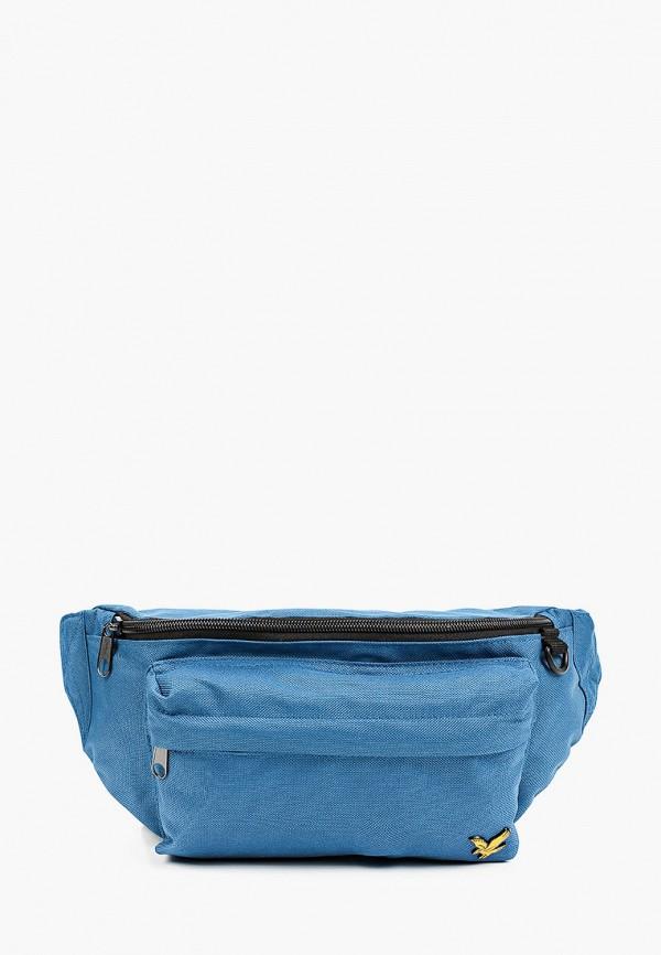 мужская поясные сумка lyle & scott, голубая