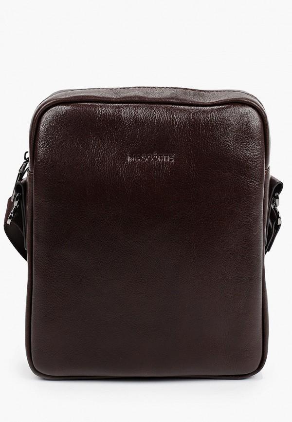 мужская сумка через плечо mascotte, коричневая