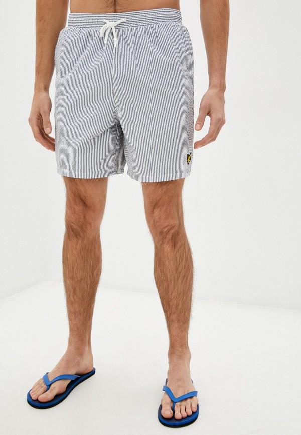 мужские повседневные шорты lyle & scott, синие