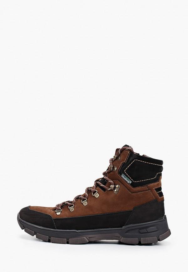 мужские высокие ботинки shoiberg, коричневые