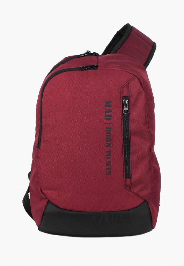 мужской рюкзак mad | born to win, бордовый