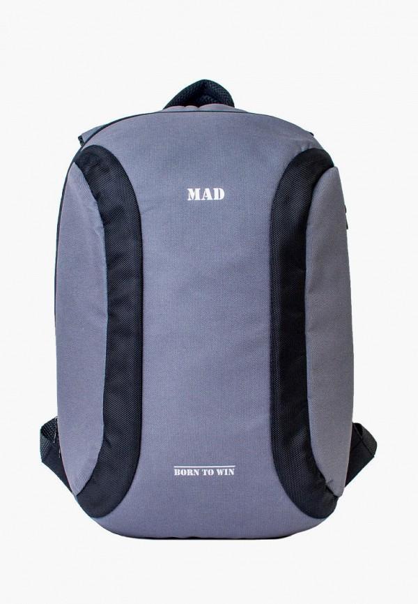 мужской рюкзак mad | born to win, серый