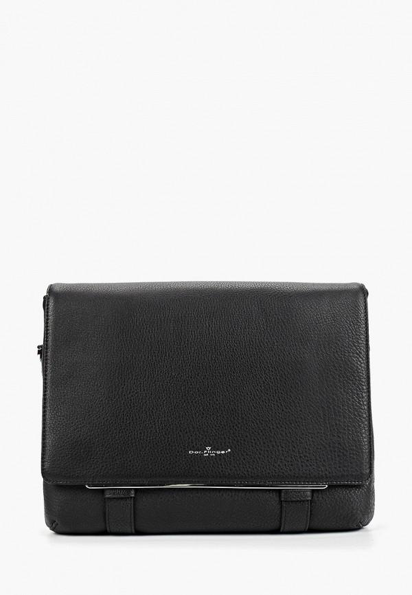 Фото 4 - Мужскую сумку Dor.Flinger черного цвета