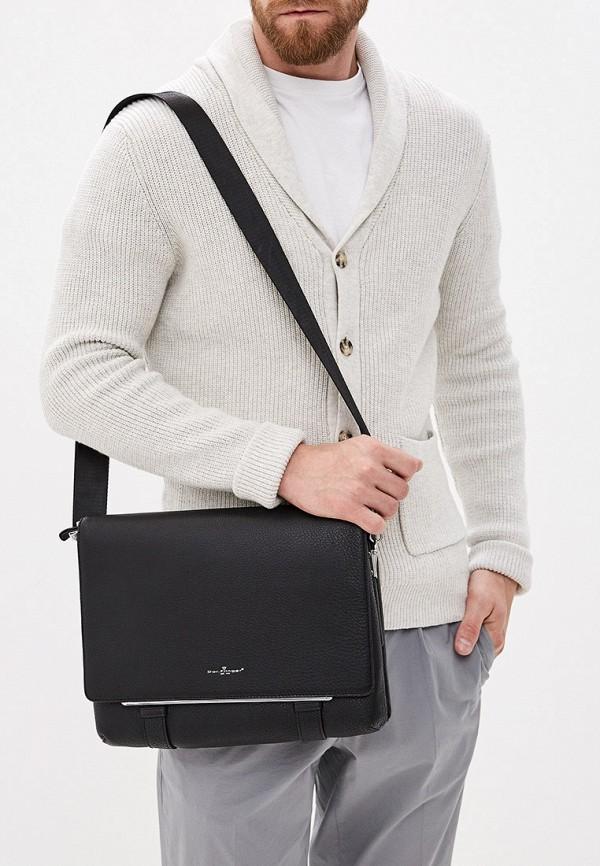 Фото 7 - Мужскую сумку Dor.Flinger черного цвета